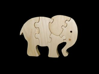 Holzpuzzle Elefant aus Fichte Leimholz