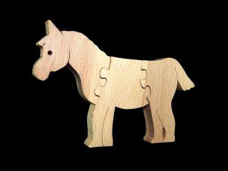 Holzpuzzle Pferd aus Buche für Kleinkinder